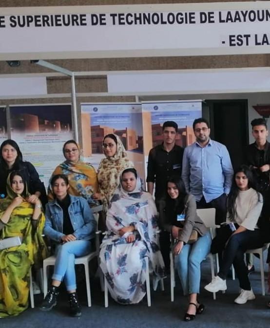مشاركة المدرسة العليا للتكنولوجيا بالعيون في فعاليات ملتقى الطالب المنظم بقصر المؤتمرات بالعيون بتاريخ 30-31 يناير 2020.