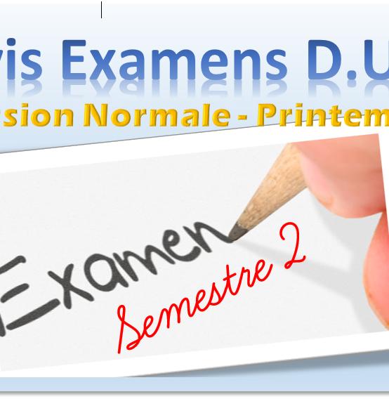 PLANNING DS D.U.T S2 (Session Normale – Printemps ) ANNÉE UNIVERSITAIRE 2020-2021